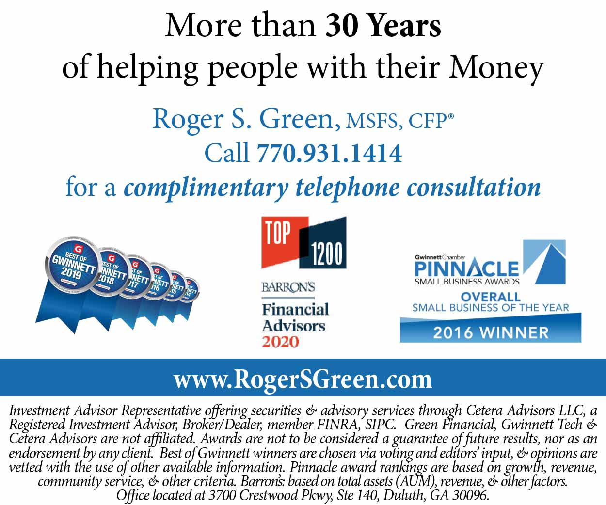 Green Financial Resources 30 years Inline