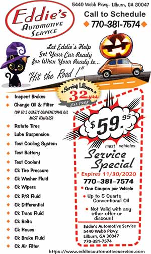 Eddie's Automotive Service Fall Travel Service Inline